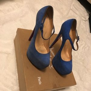 Beautiful Christian Louboutin lady daf suede